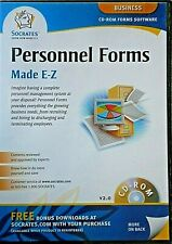 BUSINESS FORMS Personnel Forms Made E-Z CD-ROM by Socrates, NEW Never Used