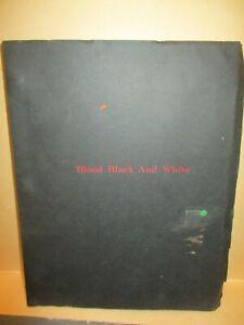 """1973 blaxploitation film """"Blood Black & White"""" original script"""
