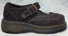 NEW Dr Martens Sz 7 UK 9 US Women's Sabina Brown Leather Mary Jane Shoes