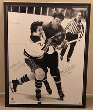 Pete Mahovlich & Brad Park Signed 32x40 Matted Detroit Red Wings Photo 1/1 Rare
