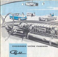 Panhard PL 17 1961-62 Original FRENCH Market Foldout Brochure Tigre Cabriolet