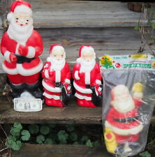 True Vintage Lot of 4 Santa Blow Molds 1 Carolina, 2 Empire & 1 Poloron St Nick