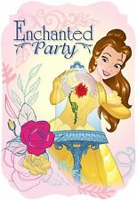 Disney Beauty & The Beast Party Invitations, Envelopes & Seal Stickers 8ct