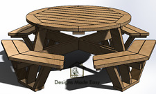 Easy DIY Octagon Round Picnic Table - Design Plans for Woodworking 07