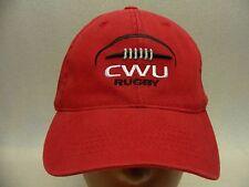 CENTRAL WASHINGTON WILDCATS - RUGBY - S/M SIZE FLEXFIT BALL CAP HAT!