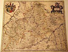 Historische Landkarte Württemberg, Marbach, Leonberg, Winnenden, Gmündt,  1658