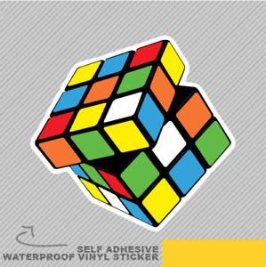 Rubik Cube Coloured Squares Vinyl Sticker Decal Window Car Van Bike 2343