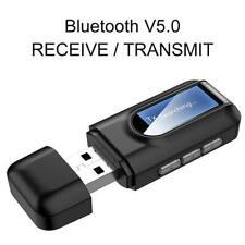 Bluetooth 5.0 Receiver Transmitter LCD Display 3.5mm AUX Jack USB Adapter