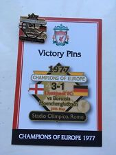 DANBURY MINT LIVERPOOL FC VICTORY PIN BADGE 1977 CHAMPIONS OF EUROPE VS GLADBACH