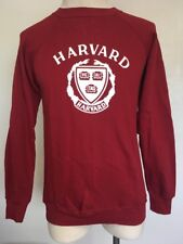 VTG 70s~ HARVARD UNIVERSITY Sweatshirt ~ Crimson/White ~ Champion Blue Bar~ M