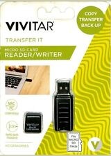 MICRO SD CARD READER/WRITER VIVITAR RW-1000-BLK USB 2.0