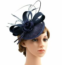 Sinamay Hat Kentucky Derby Fascinator Hat for Women Feather Tea Party Hair clip