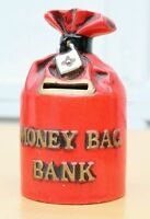 Vintage Money Bag Coin Bank Ceramic Japan