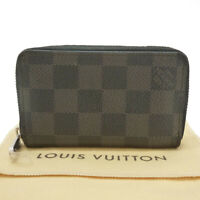 Authentic LOUIS VUITTON Zippy Coin Purse Damier Graphite N63076 #S309061