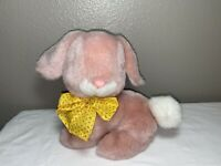 Mty International Pink Bunny Rabbit Plush Stuffed Animal Toy Yellow Bow Easter