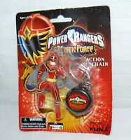 Basic Fun 2006 Power Rangers Mystic Force Red Ranger Action Key Chain