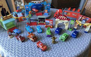 Mega Bloks Disney Pixar CARS Radiator Springs Mack Mater Lot Fits Duplo By Lego