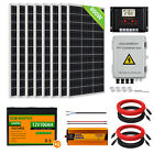 200W 400W 600W 800W Solar Panel Kit&Battery and Inverter for Off Grid  Home RV