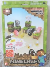 Minecraft Papercraft Overworld Animal Mobs By Jazwares Over 30 Pieces NEW in BOX