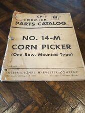 Ih International Farmall No14 M Corn Picker One Row Mounted Cp 7 H M 300 400