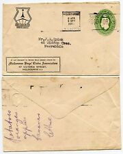 AUSTRALIA MELBOURNE BOYS CLUB POSTAL STATIONERY 1 1/2d to MOORABBIN 1949