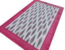 Tenture ethnique Fait main Batik Couvre lit Coton Tissu Jeté de lit Inde
