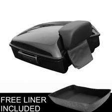 Chopped Tour Pak Pack Trunk Black Latch Backrest For Harley Street Glide 14-20