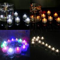 Waterproof Submersible LED Tea Lights Electronic Candle Battery Wedding Xmas x12