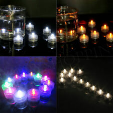 LED Submersible Tea Lights Waterproof Battery Lamp Wedding Party Decoration