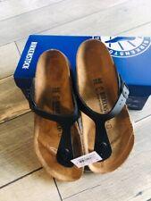 Women's Birkenstock Gizeh Sandals- Black- Made in Germany - Size Euro 40 / US 9
