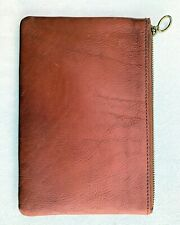 Pre-Owned Madewell The Leather Pouch Clutch color - english saddle