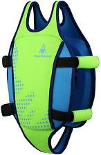 Aqua Sphere Unisex Kinder-Schwimmweste - Bright Green/Blue, Gr. M (2-3y/15-18kg)