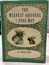 Vtg The Meanest Squirrel I Ever Met Book Gene Zion Nature Treehouse Nuts Hockey