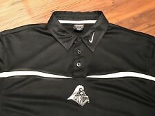 Purdue Nike Dri Fit Men's Black And Gold Short Sleeve Polo Shirt Medium M