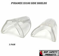 CLEAR UNIVERSAL FLEXIBLE SAFETY SIDE SHIELDS EYE GLASSES PYRAMEX SS100 (1 PAIR)