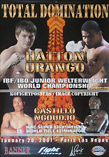 RICKY HATTON vs JUAN URANGO / Authentic DUAL SIGNED Onsite Boxing Fight Poster