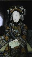 CHINE XIX fixé sous verre , représentant une femme de dignitaire ,Trés bon état