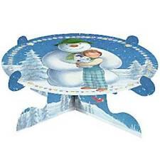 Servizio DA TAVOLA DI NATALE-PUPAZZO DI NEVE E Snowdog CAKE STAND - 1 piani