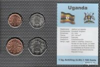 Uganda 1987 Stgl./unzirkuliert Kursmünzen 1987 1 Schilling bis 10 Schilling