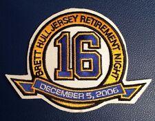 1 RARE 2006 ST.LOUIS BLUES BRETT HULL NO.16 RETIREMENT JERSEY PATCH CREST NHL