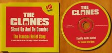 THE CLONES...STAND UP AND BE COUNTED..THE TSUNAMI RELIEF SONG SINGLE CD
