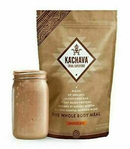 Ka'Chava Meal Replacement Shake Organic Superfoods Chocolate Kachava