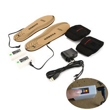 Battery Heated Insoles Shoes Boots Thermal Electric Foot Toe Warmers Winter Warm