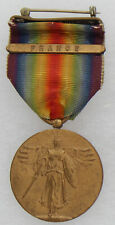 New listing World War 1 Us Victory Medal With France Bar