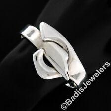 "Vintage .925 Sterling Silver 6.5"" Large Heavy Knot Wrap Bangle Cuff Bracelet 73g"