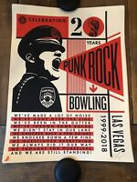 Obey Giant Shepard Fairey Punk Rock Bowling 20th At Print Poster S/N Ed Of 450