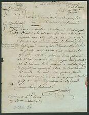 Conventionnel Antoine SCELLIER autographe 1797 / CARTES à JOUER