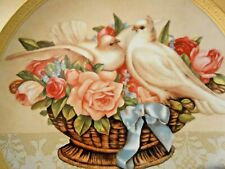Gloria Vanderbilt Franklin Mint Heirloom Porcelain Plate Romance in Bloom Doves