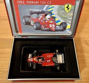 Ferrari 126 C3 1983 f1 scala 1/43 Tambay hot wheels tipo Minichamps Shark box