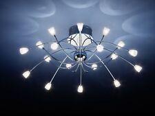 alemana Lámpara de techo-cromo CORONA 18 Focos Halógeno Ø 73cm